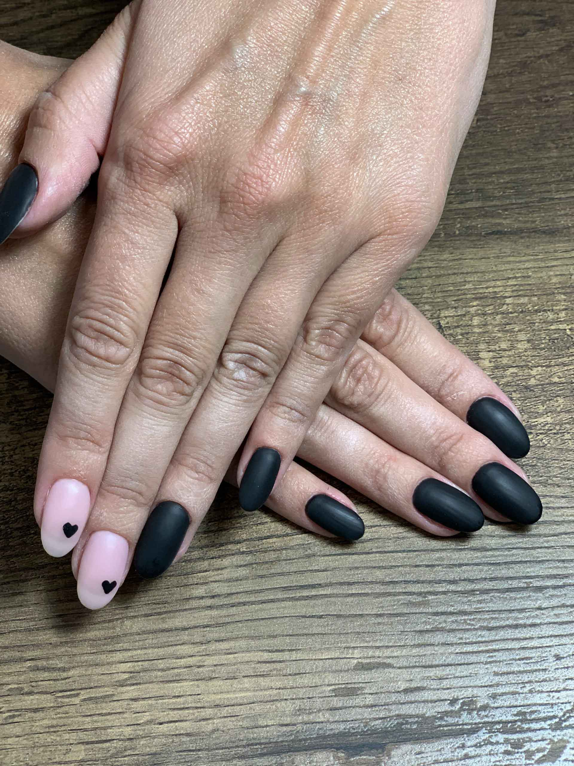 pink and black manicure boca raton fl